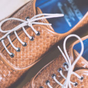 Detail-On-Smart-Weaved-Brown-Shoes-From-Above