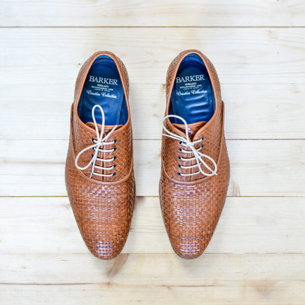 Smart-Weaved-Brown-Shoes-From-Above